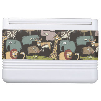 African Animals Pattern Igloo Cooler