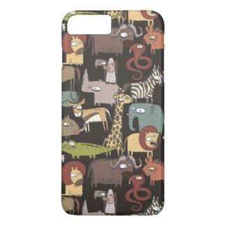 African Animals Pattern iPhone 8 Plus/7 Plus Case