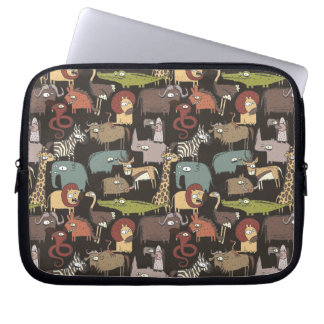 African Animals Pattern Laptop Sleeve
