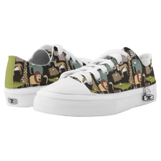 African Animals Pattern Low Tops