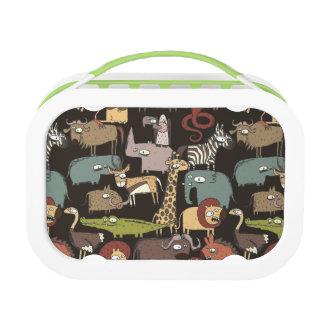 African Animals Pattern Lunch Box