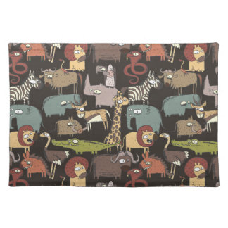African Animals Pattern Placemats