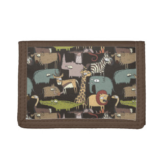 African Animals Pattern Trifold Wallet