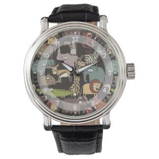 African Animals Pattern Wristwatch