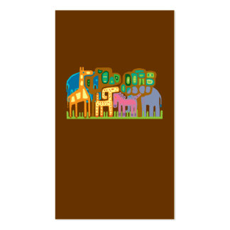 African art animals pack of standard business cards