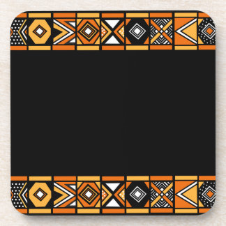 African art black coasters