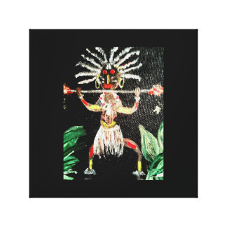 African Art Canvas Print