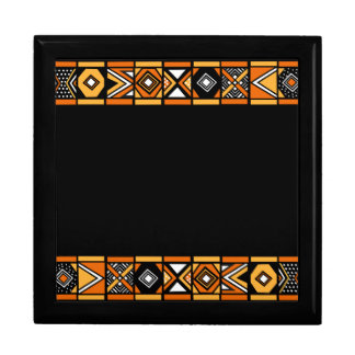 African art pattern large square gift box
