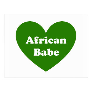 African Babe Postcard