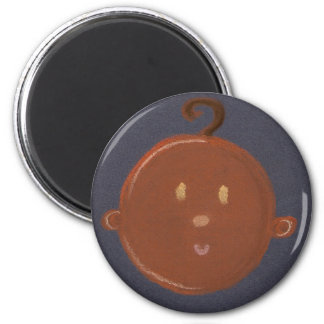 african baby 6 cm round magnet