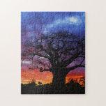 African baobab tree, Adansonia digitata 2 Jigsaw Puzzle