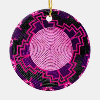 African Basket Custom Porcelain Ornament