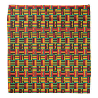 African Basket Weave Pride Red Yellow Green Black Bandana
