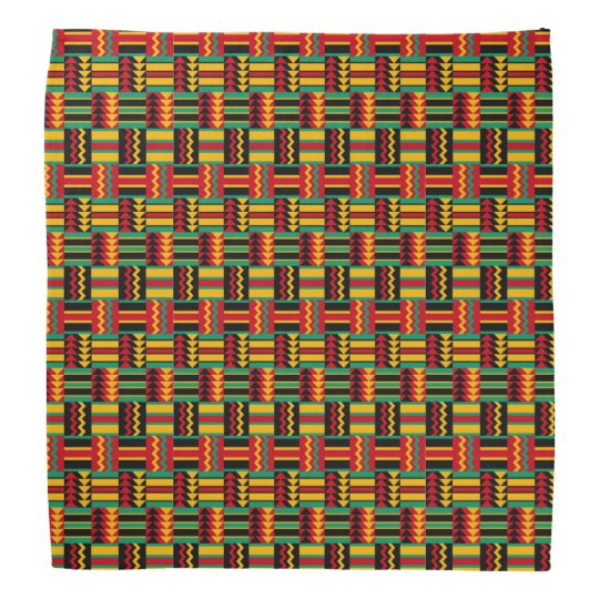African Basket Weave Pride Red Yellow Green Black