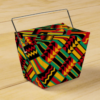 African Basket Weave Pride Red Yellow Green Black Favour Box