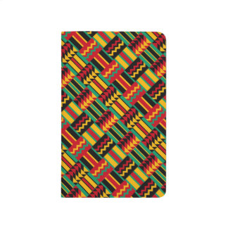 African Basket Weave Pride Red Yellow Green Black Journal