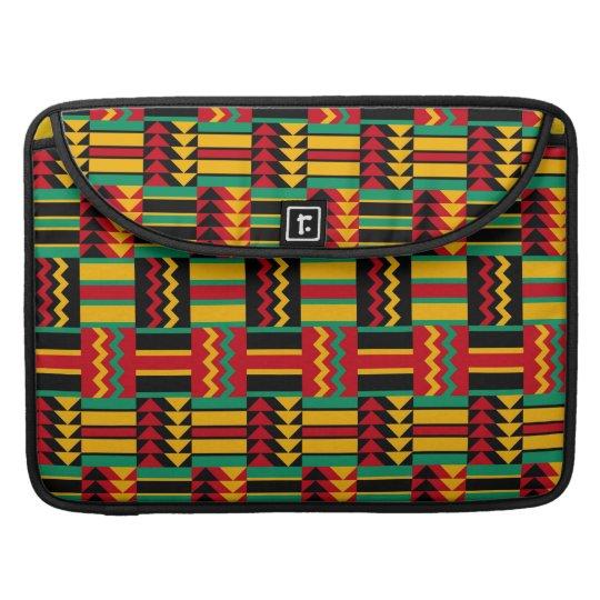 African Basket Weave Pride Red Yellow Green Black MacBook Pro Sleeves