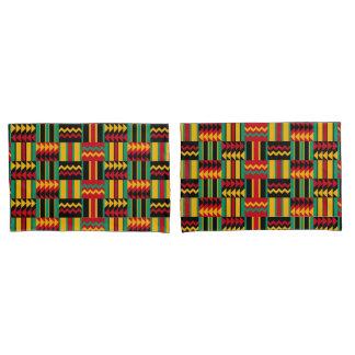 African Basket Weave Pride Red Yellow Green Black Pillowcase