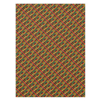 African Basket Weave Pride Red Yellow Green Black Tablecloth