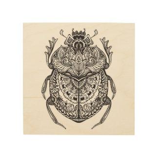 African Beetle Zendoodle 5 Wood Wall Art