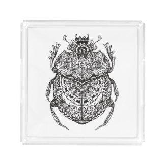 African Beetle Zendoodle Acrylic Tray