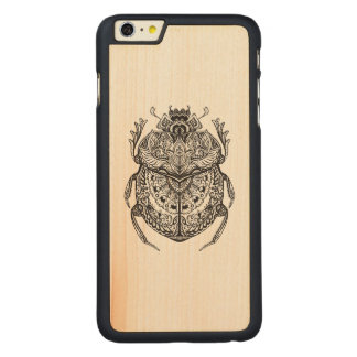 African Beetle Zendoodle Carved Maple iPhone 6 Plus Case