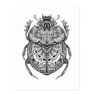 African Beetle Zendoodle Postcard