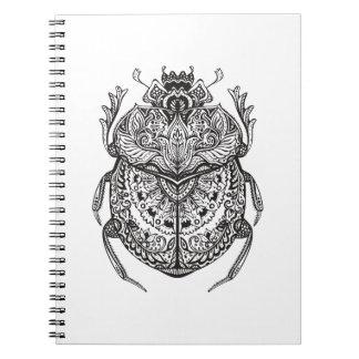 African Beetle Zendoodle Spiral Notebook