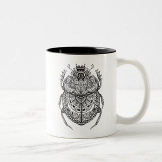 African Beetle Zendoodle Two-Tone Coffee Mug