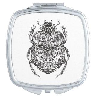 African Beetle Zendoodle Vanity Mirror