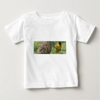 African Bird and Her Grass Nest Baby T-Shirt