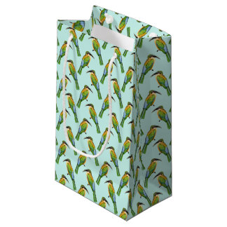 African Bird Somali Bee Eater Vintage Pattern Small Gift Bag