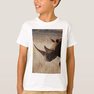 African black rhino with big horns T-Shirt
