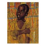 African Boy Postcard