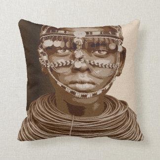 African Bride Throw Pillow