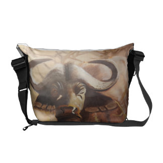 African Buffalo Messenger Commuter Bag