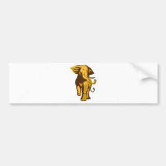 african bull elephant charging retro bumper sticker
