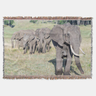 African Bush Elephant (Loxodonta Africana) 2 Throw Blanket