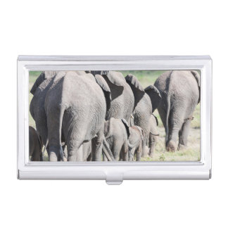African Bush Elephant (Loxodonta Africana) 4 Business Card Holder