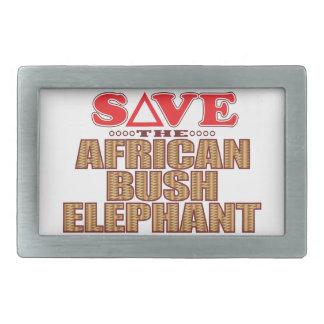 African Bush Elephant Save Belt Buckle