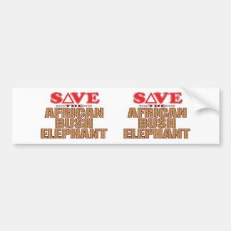 African Bush Elephant Save Bumper Sticker