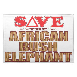 African Bush Elephant Save Placemat