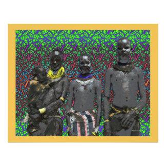 African Bush People Photo Art