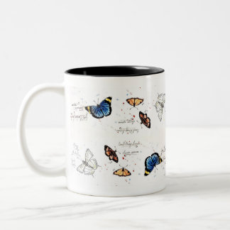 African Butterflies Two-Tone Coffee Mug