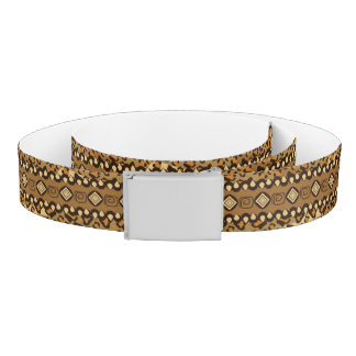 African cheetah skin pattern 2 belt