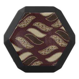 African cheetah skin pattern 2 black bluetooth speaker