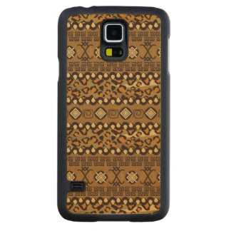 African cheetah skin pattern 2 carved maple galaxy s5 case