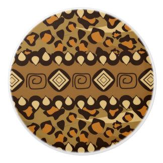 African cheetah skin pattern 2 ceramic knob