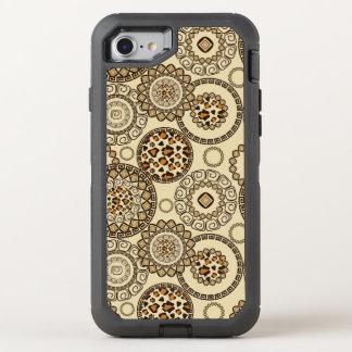 African cheetah skin pattern 3 OtterBox defender iPhone 8/7 case