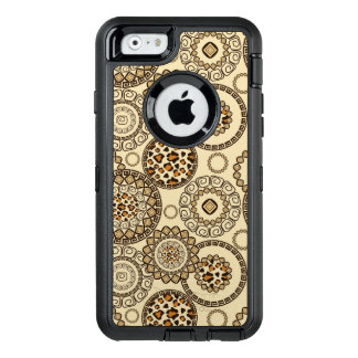 African cheetah skin pattern 3 OtterBox defender iPhone case